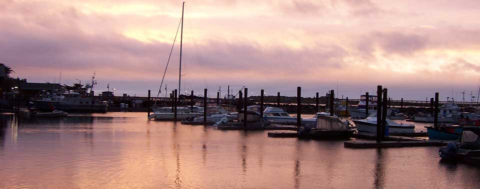 Catch a beautiful sunset across the street at the harbor.